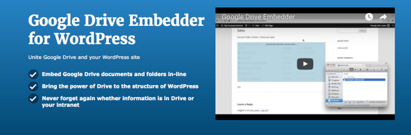 Google Drive Embedder WordPress Plugin
