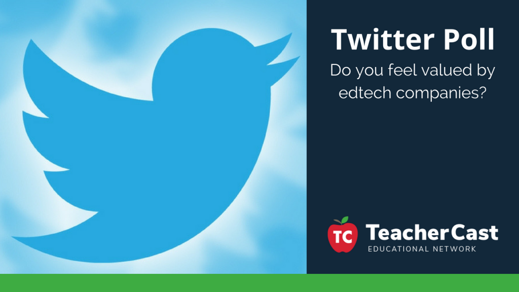 Twitter Poll Do Educators Feel Valued by EdTech Companies - TeacherCast Blog Post