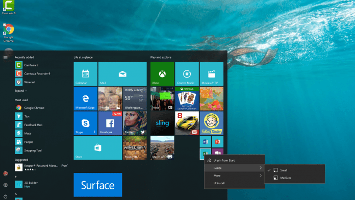 Windows 10 Live Tiles