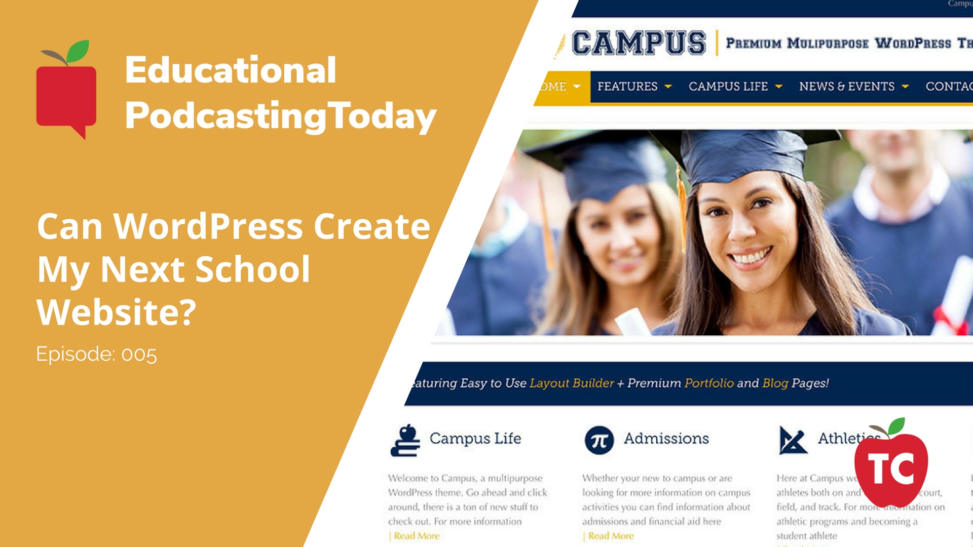 Using WordPress for School District Websites