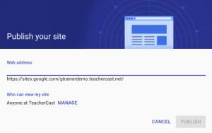 Publish Your Google Site