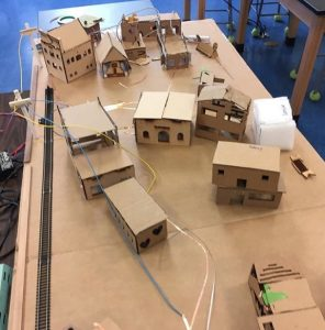 Cardboard house models