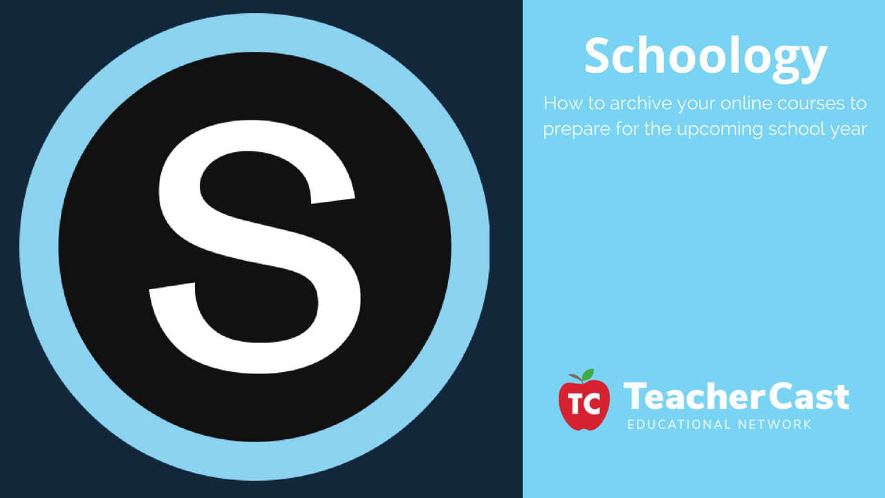 How to Archive a Schoology Online Course