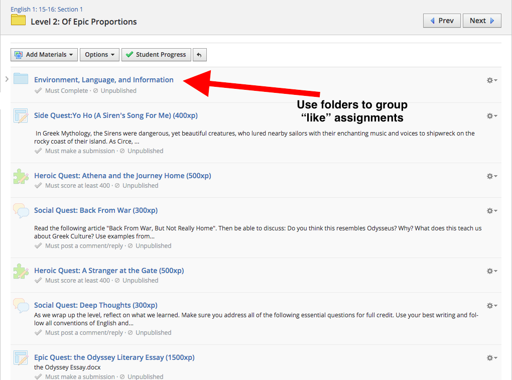 How to Organize your Schoology Courses