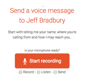 Jeff Bradbury Speakpipe Voicemail