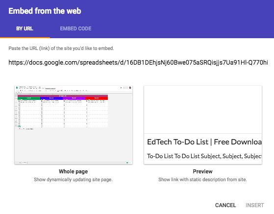 Google Sheets Embed Method 3