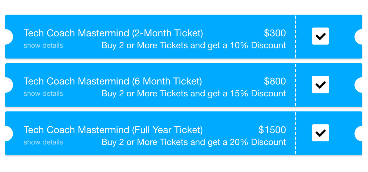 Tech Coach Mastermind Ticket Prices