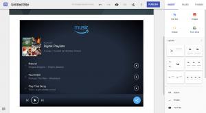Amazon Playlists on Google Sites