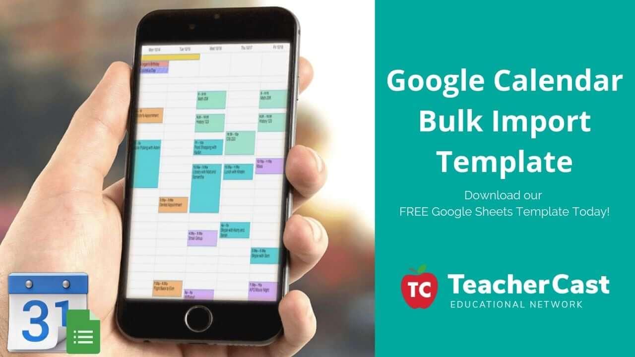 Google Calendar Bulk Import Download