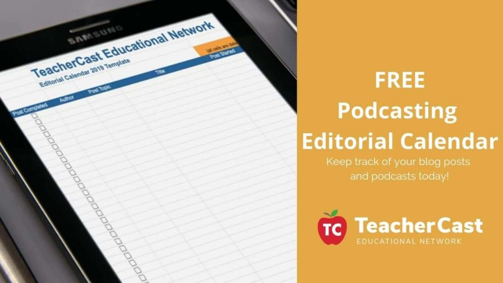 Podcasting Editorial Calendar Download