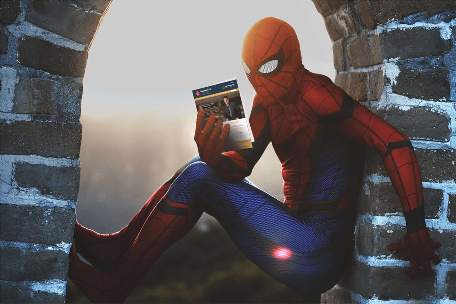 Spiderman Reading TeacherCast