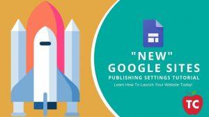 Google Sites Publishing Settings