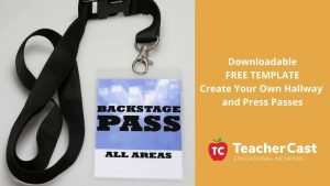 Downloadable FREE TEMPLATE Create Your Own Hallway and Press Passes