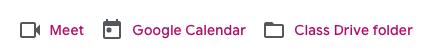 Google Classroom Calendar Menu