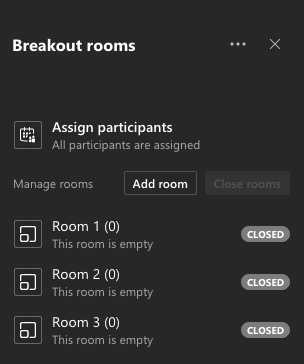 Adjust Breakout Room Settings